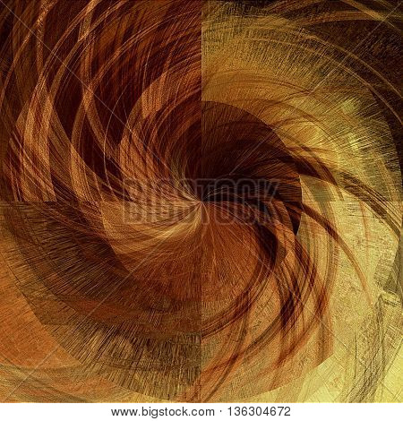 art abstract graphic spherical monochrome grunge background in brown, old gold and orange colors; geometric pattern