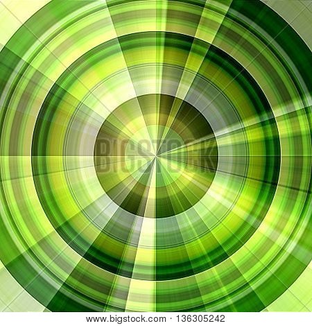 art abstract graphic spherical monochrome blurred background in green, gold and white colors; geometric pattern