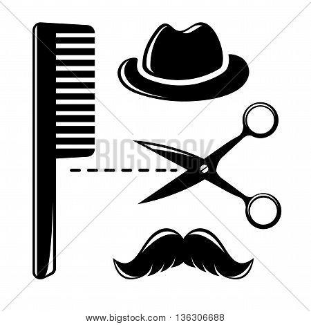Barbershop vintage icons, vector illustration for your design, eps10