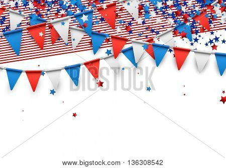 Background with strips and stars. Vector illustration.