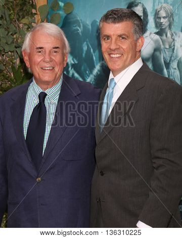 LOS ANGELES - JUN 27:  Alan Riche, Peter Riche at The Legend Of Tarzan Premiere at the Dolby Theater on June 27, 2016 in Los Angeles, CA