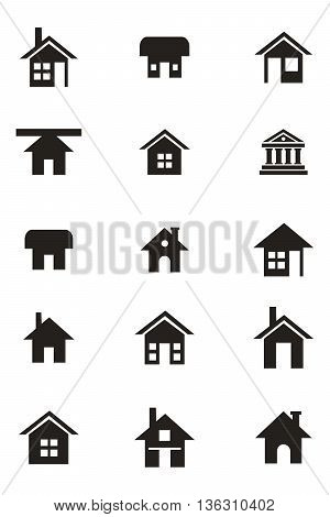 Home button residential building outline vector symbol