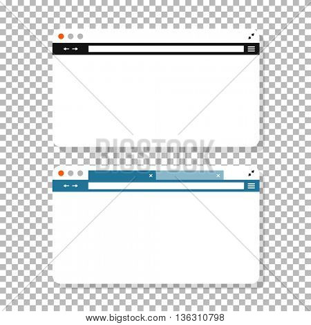 Opened browser window mockup. Past your content into it