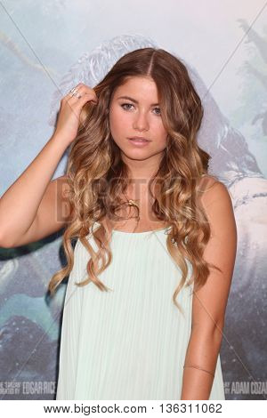 LOS ANGELES - JUN 27:  Sofia Reyes at The Legend Of Tarzan Premiere at the Dolby Theater on June 27, 2016 in Los Angeles, CA