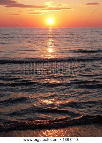 Sunset On Tuscany'S Coastline