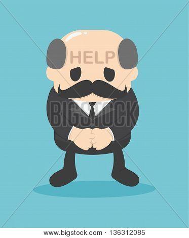 Illustration Concept Businessmen help me eps. 10