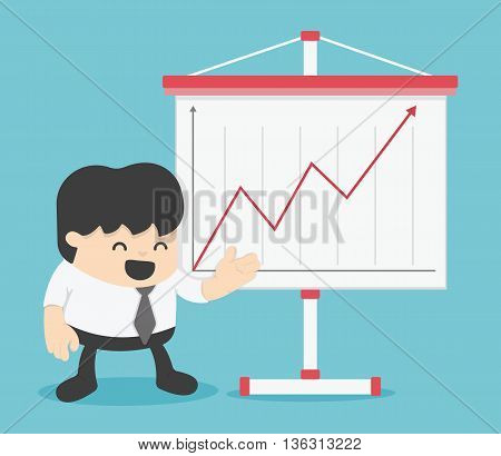 Businessman and Presenting Business Growth Chart eps.10