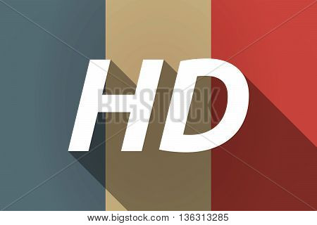 Vector Long Shadow France Flag With    The Text Hd