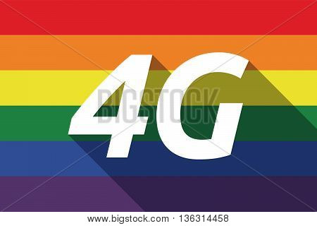 Vector Long Shadow Gay Pride Flag With    The Text 4G