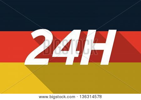 Vector Long Shadow Germany Flag With    The Text 24H