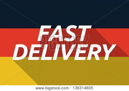 Vector Long Shadow Germany Flag With  The Text Fast Delivery