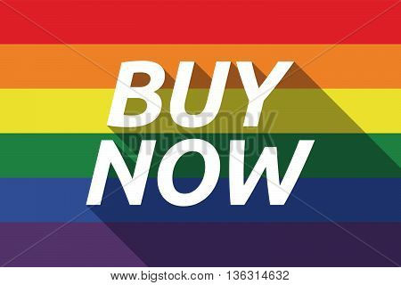 Vector Long Shadow Gay Pride Flag With    The Text Buy Now