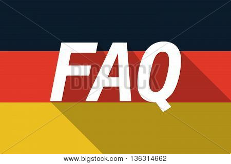 Vector Long Shadow Germany Flag With    The Text Faq