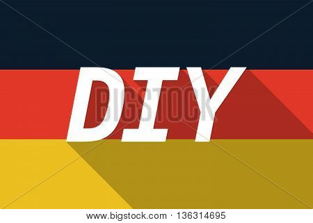 Vector Long Shadow Germany Flag With    The Text Diy