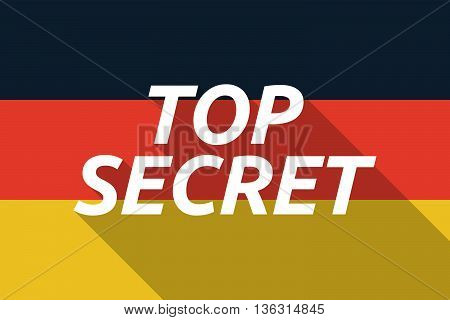 Vector Long Shadow Germany Flag With    The Text Top Secret