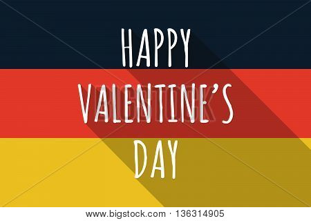 Vector Long Shadow Germany Flag With    The Text Happy Valentines Day