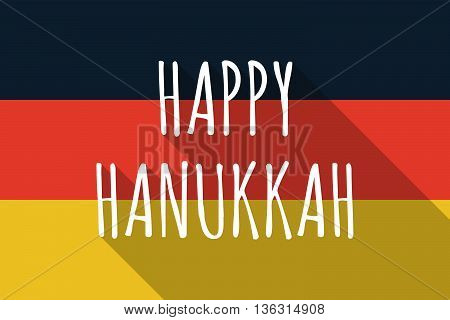 Vector Long Shadow Germany Flag With    The Text Happy Hanukkah