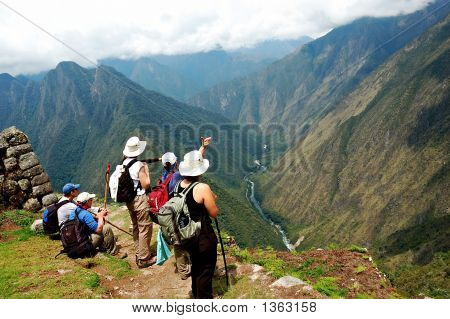 Ancient Ruins Along The Inca Trail In Peru