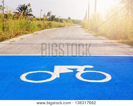 Bicycle Sign Bicycle Lane Cycling Lifestyle Park Outdoor