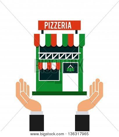 investment in pizzeria isolated icon design, vector illustration  graphic