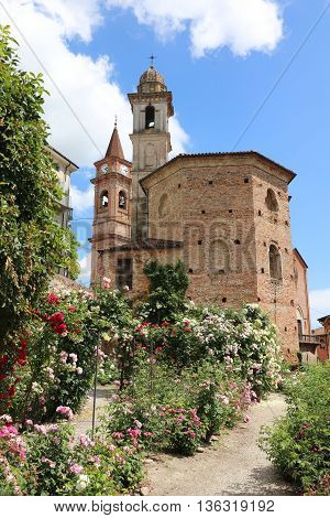 The small Town Govone in Piedmont. Italy