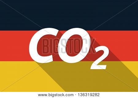 Vector Long Shadow Germany Flag With    The Text Co2