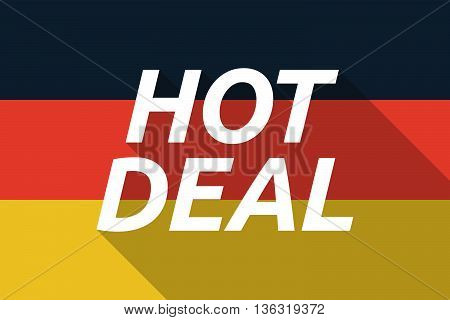 Vector Long Shadow Germany Flag With    The Text Hot Deal