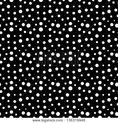 Polka dot white seamless pattern. Fashion graphic background design. Modern stylish abstract texture. Monochrome template for prints textiles wrapping wallpaper website etc. VECTOR illustration