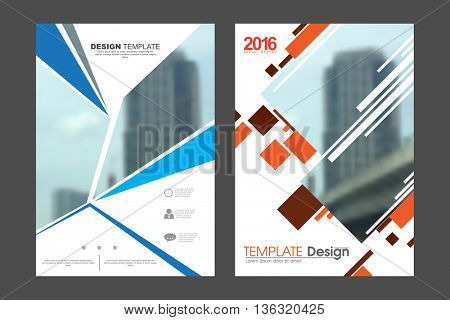 Two A4 size, abstract technology elements marketing business corporate design template. eps10 vector