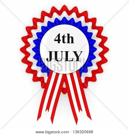 4th of July US Independence Day Rosette 3D Illustration
