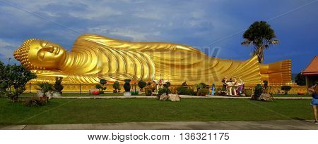 golden Laem Phor Reclining Buddha, 30 meters long, Ko Yo, Thailand
