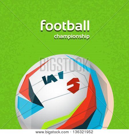 Football Championship Colorful Banner Flat Vector Illustration