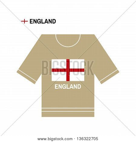 Vector English t-shirt symbol. England National sport team isolated on white. European Championship.