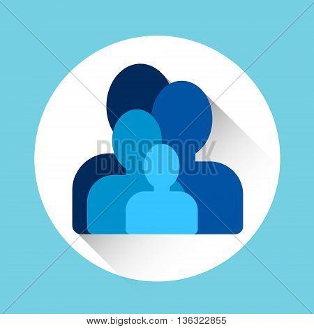 Chat Profile Group Icon Flat Vector Illustration