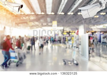 Blurred Of Passenger At The Airport.