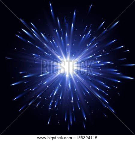 Glow light effect, Star burst with sparkles, Transparent Light Effect, Vector explosion