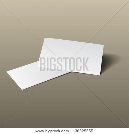 Business Card Mockup Gold2