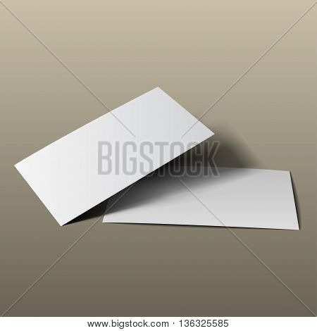Business Card Mockup Gold3