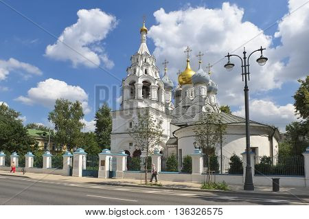 MOSCOW, RUSSIA - JUNE 23, 2016: The Church of St. Nicholas of Myra in Pyzhi Bolshaya Ordynka Orthodox church Moskvoretsky deaneries of the Moscow diocese an architectural monument of the XVII century landmark