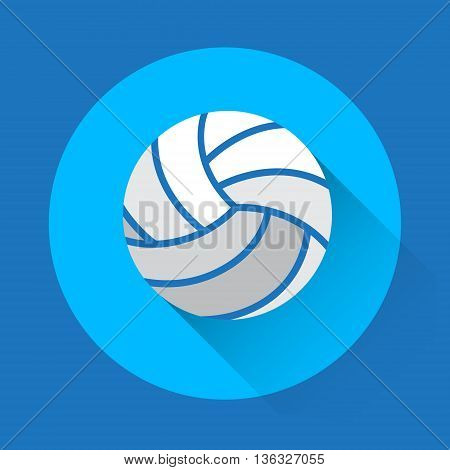 Volleyball Ball Game Equipment Sport Icon Flat Vector Illustration