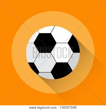Football Ball Game Equipment Sport Icon Flat Vector Illustration