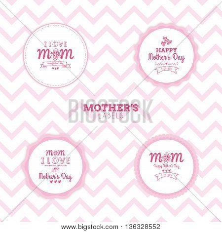 abstract mother day labels on a special background