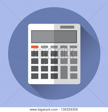 Calculator Accountant Colorful Icon Flat Vector Illustration