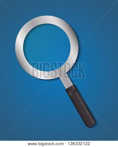 Search concept represented by lupe icon. Colorfull and flat illustration