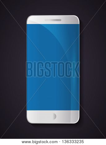Technology concept represented by smartphone icon. Colorfull and flat illustration