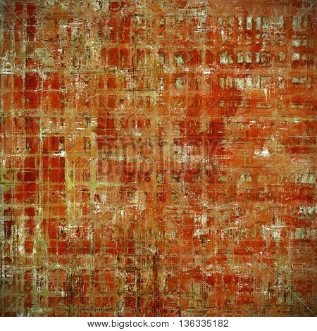 Vintage texture, old style frame decoration with grunge graphic elements and different color patterns: yellow (beige); brown; gray; red (orange); pink