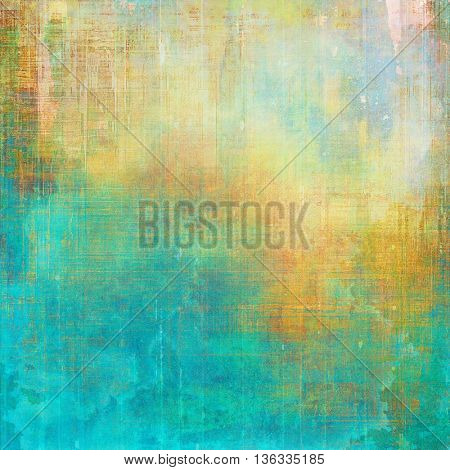 Veined grunge background or scratched texture with vintage feeling and different color patterns: yellow (beige); green; blue; red (orange); cyan