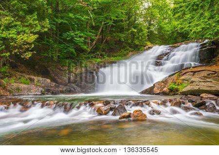 Hatchery Falls are located in the District of Muskoka Ontario Canada.