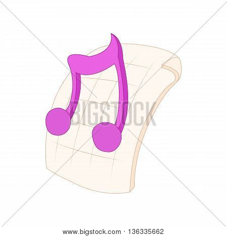 MP3 audio file extension icon in cartoon style on a white background
