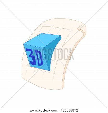 3d program file icon in cartoon style on a white background